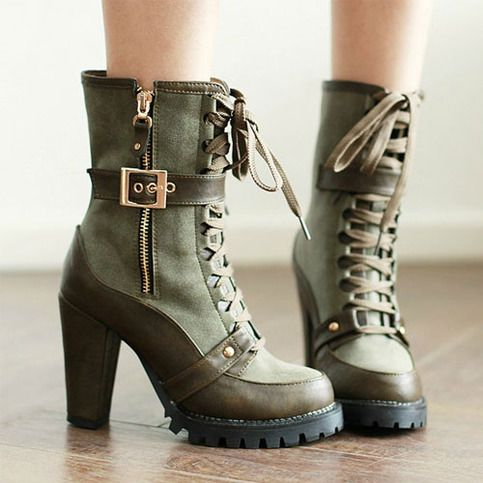 Normally don't like heeled boots, but I would wear these