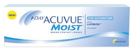 You have allergies? Astigmatism? These are the contacts for you! 1-DAY ACUVUE® MOIST® Brand Contact Lenses for ASTIGMATISM