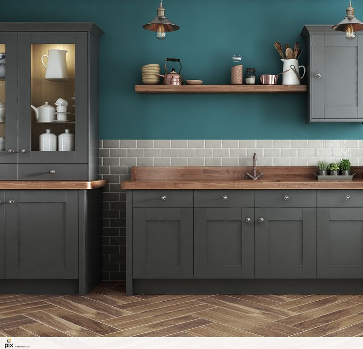 Green And Gray Kitchen: 25+ Best Ideas About Teal Kitchen Walls On Pinterest
