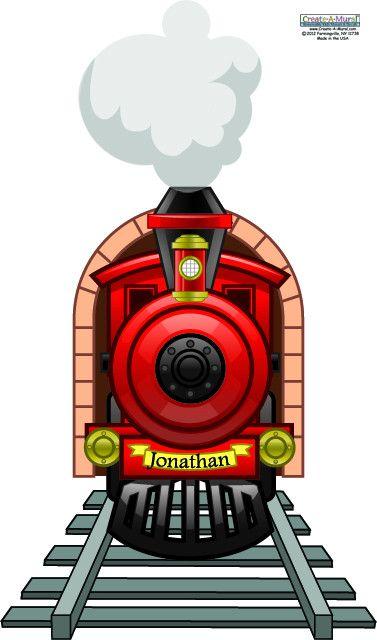 Chuga Chuga Choo Choo - The train is leaving the station! Design a fantastic locomotive train theme boys room for your child. Personalizable Train Wall Mural for Boys Bedroom Walls. Use as a headboard