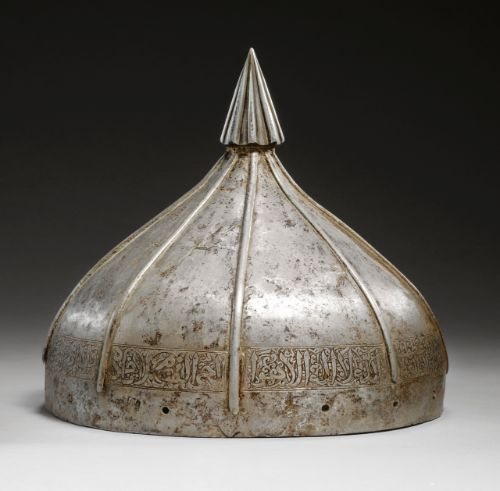 A late Ilkhanid or early Timurid steel helmet, Persia, 14th century | lot | Sotheby's