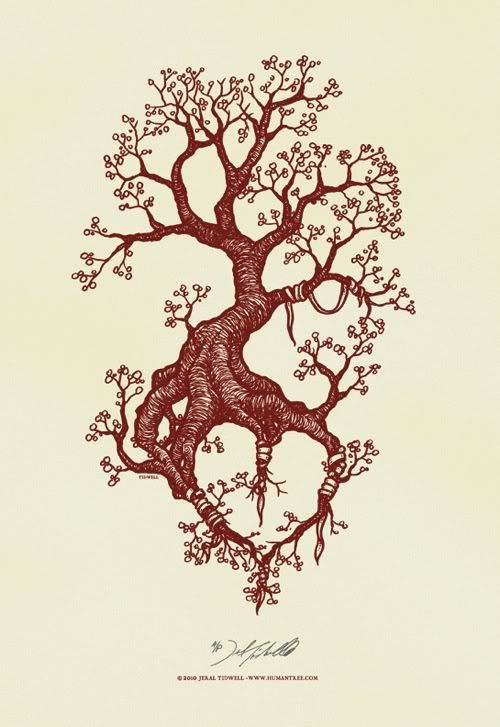 Art work by Jeral Tidwell .. really like the concept of this .. the tree will always grow, but it will be most loved and cared for at the roots .. awesome