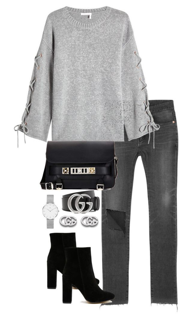 """Untitled #4448"" by theeuropeancloset ❤ liked on Polyvore featuring Balenciaga, See by Chloé, Public Desire, Proenza Schouler, Gucci and Daniel Wellington"
