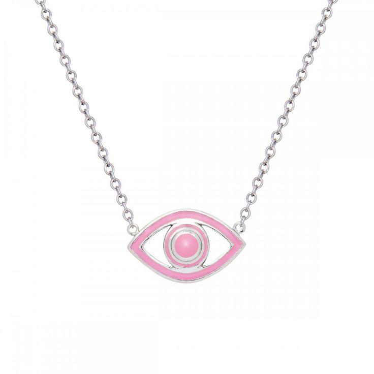 Fortuna Mini Eye Pink Pendant