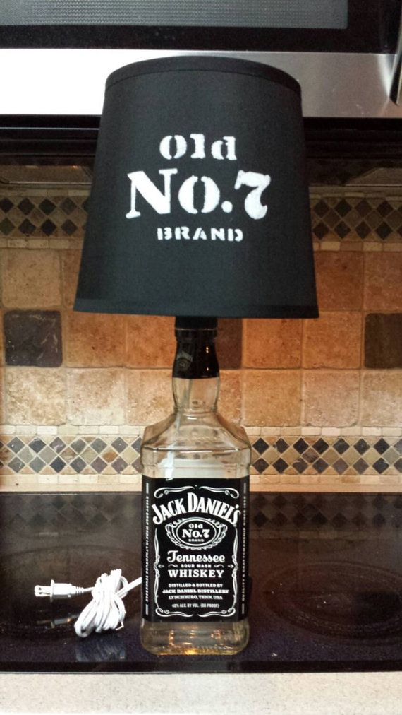 Jack Daniels Liquor Bottle Lamp and Shade by SpiritLighting