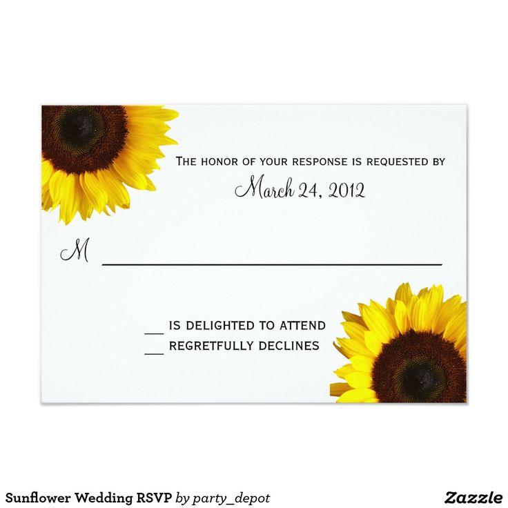 Sunflower Wedding RSVP