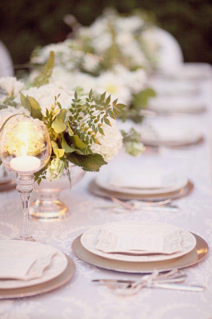 inspiration mariage argente et blanc fleur