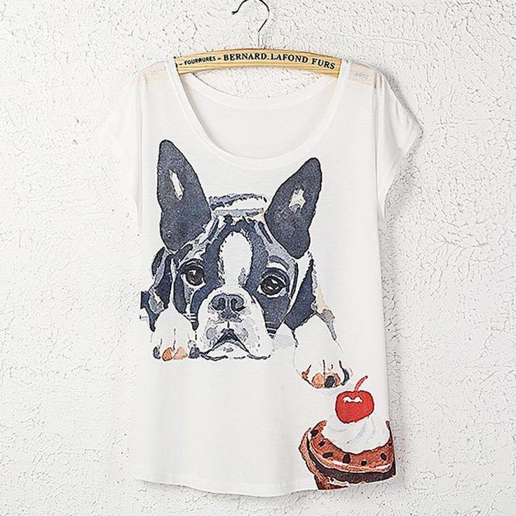 Encontrar Más Camisetas Información acerca de Más tamaño mujeres 2015 nueva Harajuku verano mujeres T 3D camisa de manga corta arriba suelta kawaii perrito de impresión Camisetas Mujer, alta calidad cachorro polos, China pasadores cachorro Proveedores, barato camisa de los hombres de Vivian'free Shop en Aliexpress.com