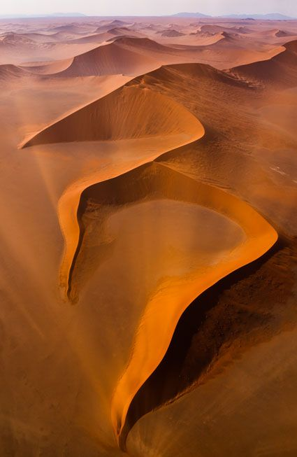 desert in Namibia! People said that desert is wonderful the view is ouah… and that we have to go there at least one time in her life! I think is true is so beautiful! :)