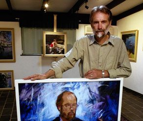 Toodyay painter Bob Booth is a rare breed - an artist specialising in religious painting who can back up his creative skills with the deep theological knowledge of an ordained Anglican priest.