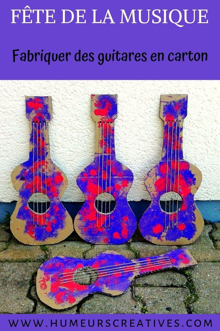 Des guitares en carton pour la fête de la Musique