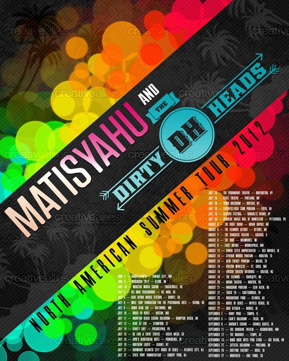 Matisyahu & Dirty Heads Poster by dandsdavejared on CreativeAllies.com