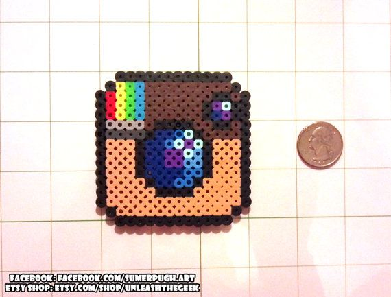 Instagram Logo Perler Bead Sprite - an UnleashtheGeek original design - by UnleashTheGeek