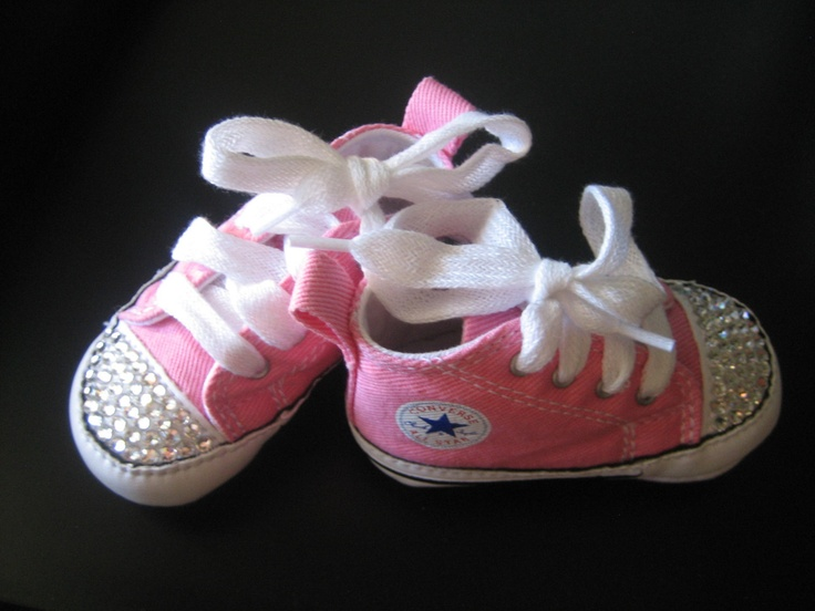 Baby Bling Infant Chuck Taylor Converse Crib Shoes Pink