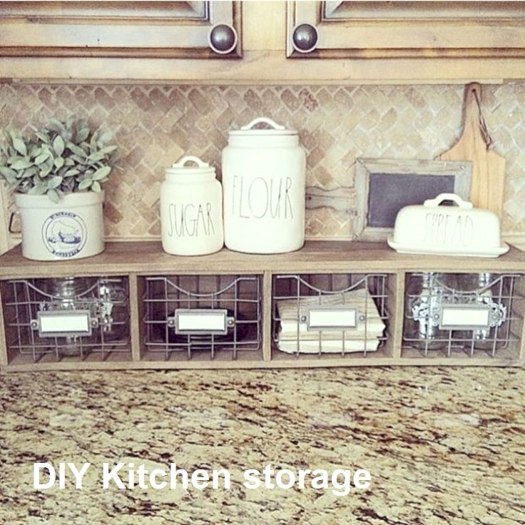 Kitchen Storage Ideas For Small Spaces In 2020 Diy Kitchen Farmhouse Kitchen Decor Diy Kitchen Storage