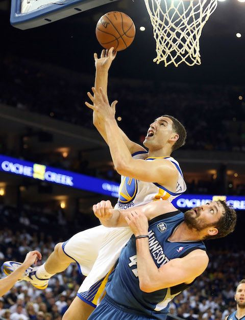 Golden State Warriors Klay Thompson, Minnesota Timberwolves Kevin Love