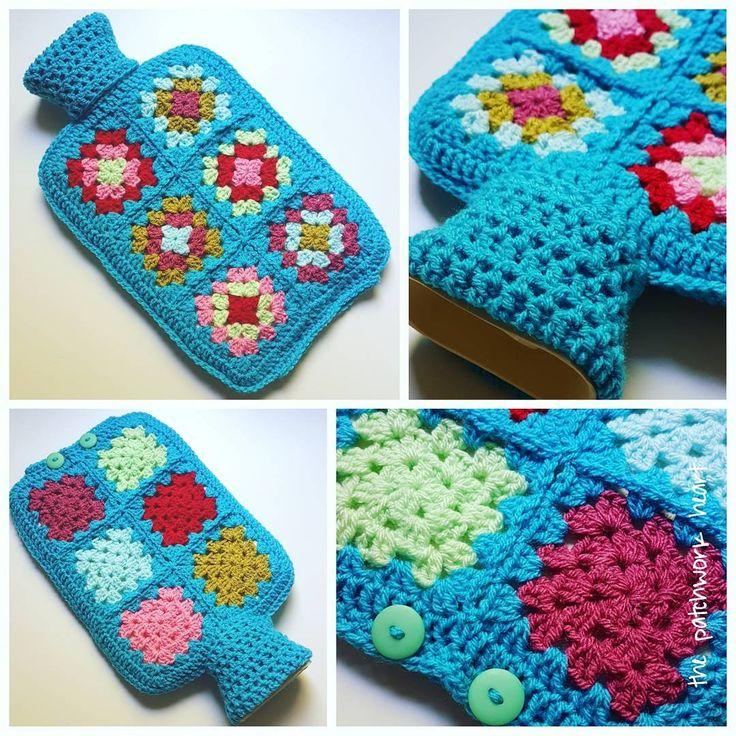 Hot water bottle no 1 from the turquoise colour pack is complete     #Regram via @thepatchworkheart