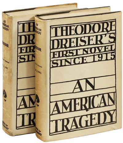 First edition of An American Tragedy by Theodore Dreiser, 1925.