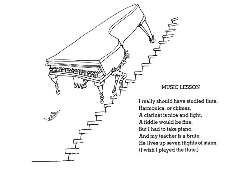 Shel Silverstein Quotes About Education: Shel Silverstein - Music Lesson (740×550)
