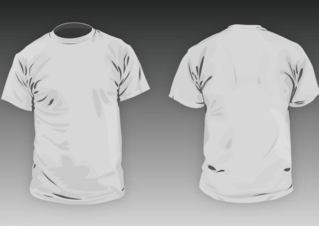 Free Download »   http://www.t-shirt-template.com/t-shirt-round-neck-men-basic-template/   This file contains the *.ai file and the *.psd file T-shirt template   T-shirt Vector & PSD templates you can use them to preview how your illustration or apparel design would look garment after you printing the garment. www.T-Shirt-template.com has the collection of best free templates for download. More free template,     White Shirt Template | Vector Shirt | Woman T-shirt Tem