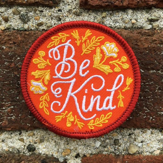 Be Kind Patch  Limited Edition IV by FrogandToadPress on Etsy