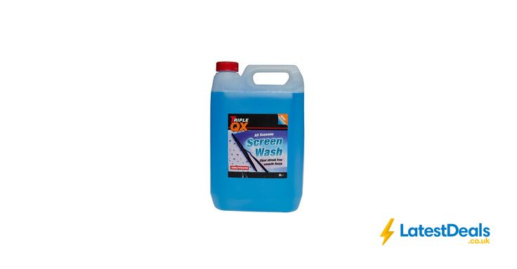 TRIPLE QX Concentrated Screenwash All Season (5 Litre) £2.72 With Code at Euro Car Parts