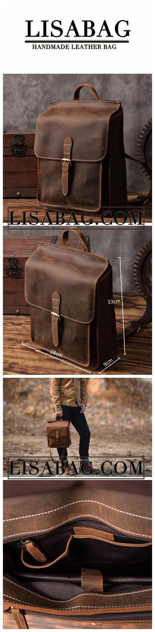 Handmade Leather Laptop Backpack Travel Backpack Casual Vintage Handbag for Men 6963L