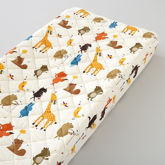 The Land of Nod   Changer Cover: Animal Print Changing Cover in Changer Pad Cover $35