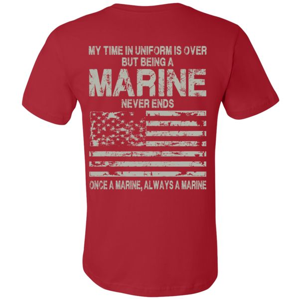 Show your Marines pride wearing this USMC t-shirt.  NOTE: These are made to order USMC t-shirts. Please make sure you are ordering the correct size and color.