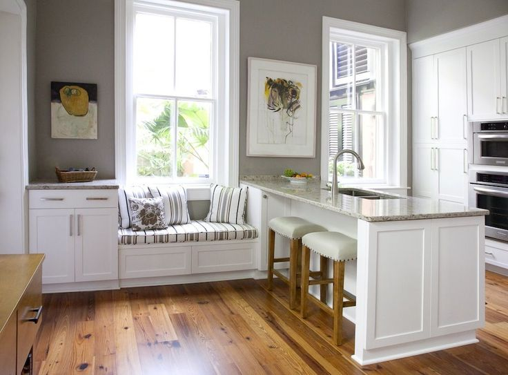 Warm Inviting Kitchen Kitchens Window Seats And White Cabinets