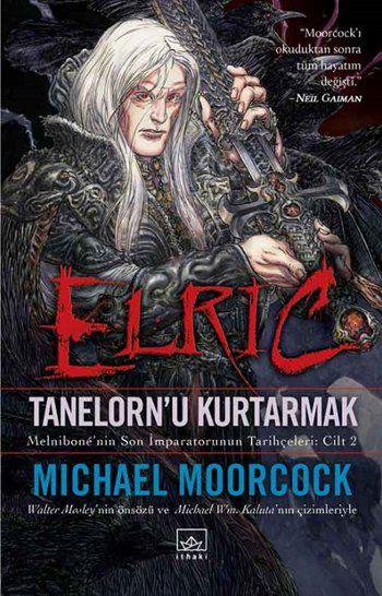"""""""Fırtınayaratan bir pusulanın iğnesi gibi döndü ve Elric'in hissiz kolu da onunla birlikte hareket etti. Kılıç, Kaos'un sekiz noktasını çizermiş gibi sekiz yöne doğru savruldu. Av kokusu almış bir köpek gibi arayış içindeydi. Sonra kılıcın garip metalinin içinden bir haykırış yükseldi; Elric bunun zevk dolu bir çığlık olduğunu biliyordu.""""  Lanetli ırkının yitik imparatoru, yalnız kahraman, akraba katili, âşık…"""