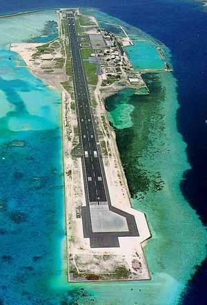 Airport in the Maldive islands