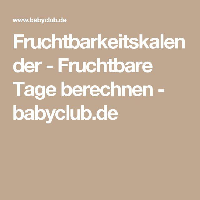 Fruchtbarkeitskalender - Fruchtbare Tage berechnen - babyclub.de