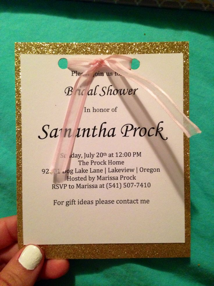 Clemens Bridal Shower 7•20•14. Cute homemade bridal shower invites sis made from scratch. Everything is from Michaels!