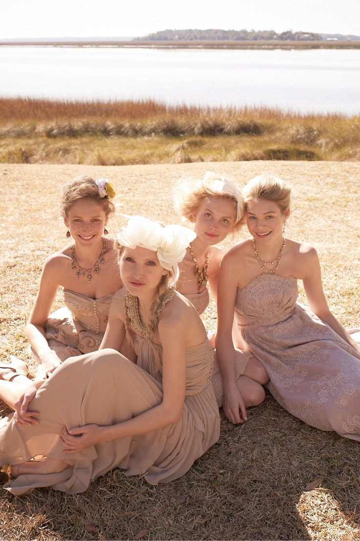 135 best bridesmaids dressescolor schemes images on pinterest love these neutral colors for bridesmaids ombrellifo Choice Image