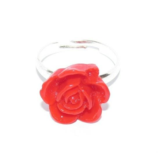 Resin red rose