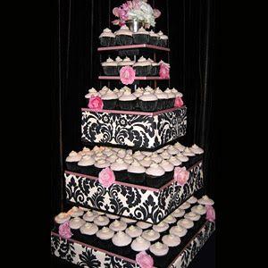 tortas con cupcakes para 15 años - Buscar con Google