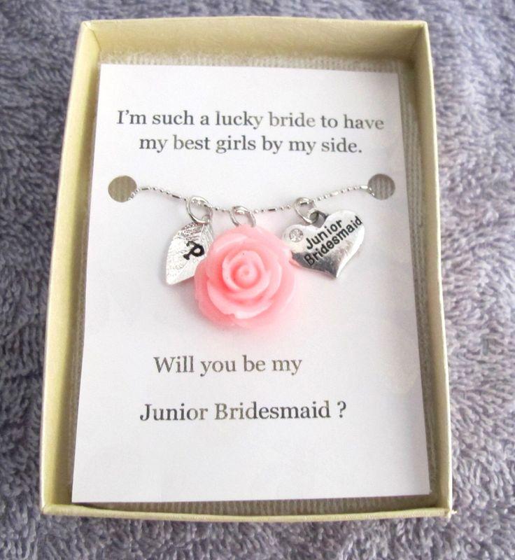 Personalized Junior Bridesmaid Necklace, Jr Bridesmaid