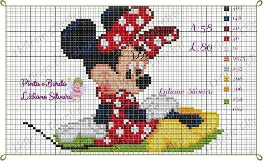 Cross-stich Minnie Mouse