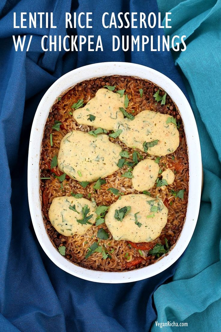 Lentil Rice Casserole with Indian spices baked with chickpea flour dumplings. Use veggies and lentils of choice. Vegan Gluten-free Soy-free Recipe. Casseroles work out well for when you want to put everything in a pot or pan and keep it ready to bake and serve later. This casserole is like a kitchari casserole with lentils,...Continue reading »