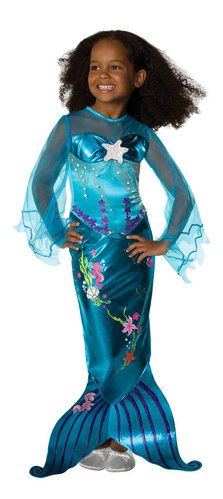 girls mermaid costumes - sizes from 2T - kids 10