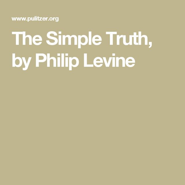 what work is philip levine