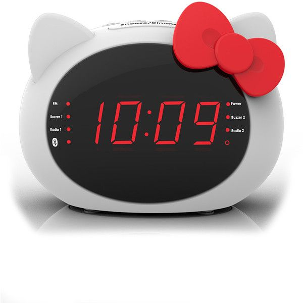 Hello Kitty Bluetooth Alarm Clock ❤ liked on Polyvore featuring home, home decor, clocks, appliance, hello kitty clock, hello kitty, hello kitty home decor, hello kitty alarm clock and hello kitty home accessories