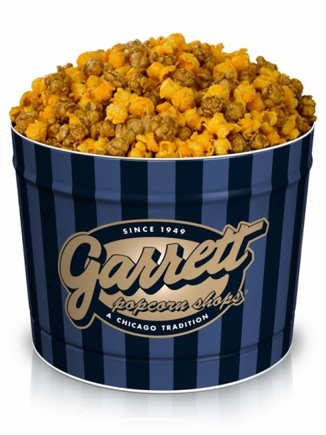 ILLINOIS - A Chicago institution since 1949, Garrett Popcorn produces many mixes of Illinois' official snack. Among the varieties, the Chicago Mix is a combination of two popular popcorn flavors, sweet caramel and cheddar cheese.    Get it now: Chicago Mix popcorn, one-gallon tin, $31.00 at garrettpopcorn.com