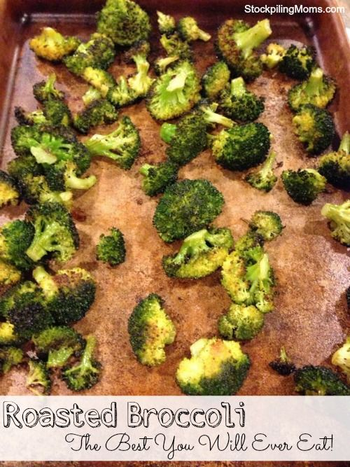 Roasted Broccoli is a great cleaneating Paleo side dish to any meal! #paleo