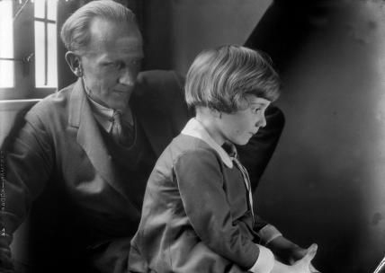A.A. Milne and Christopher Robin Milne