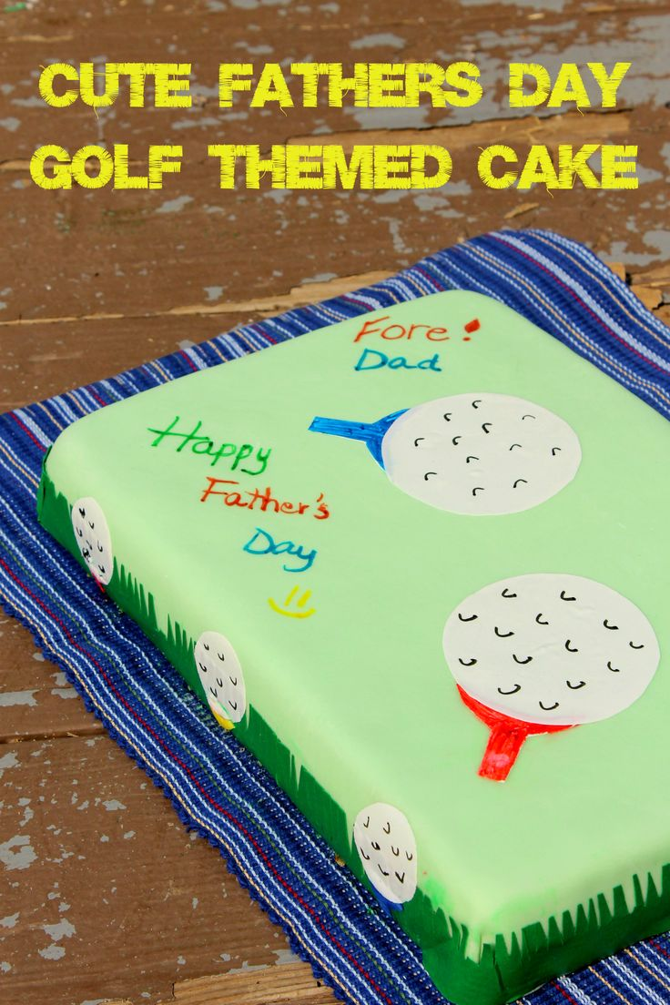 Cute Father's Day Golf Themed Cake  http://makobiscribe.com/golf-themed-cake/