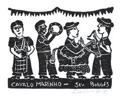 Indigo Arts Gallery | Brazilian Folk Art | Woodcuts by Borges Family & Others
