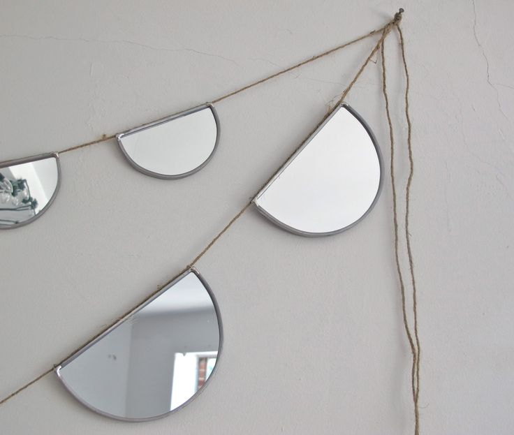 Mirror Bunting Small Half Circle Banner Garland. $58.00, via Etsy.