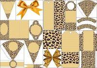 Piel de Leopardo: Fondos e Imprimibles Gratis para Fiestas.